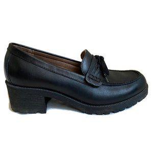 Eastland Newbury Leather Block Heel Loafer